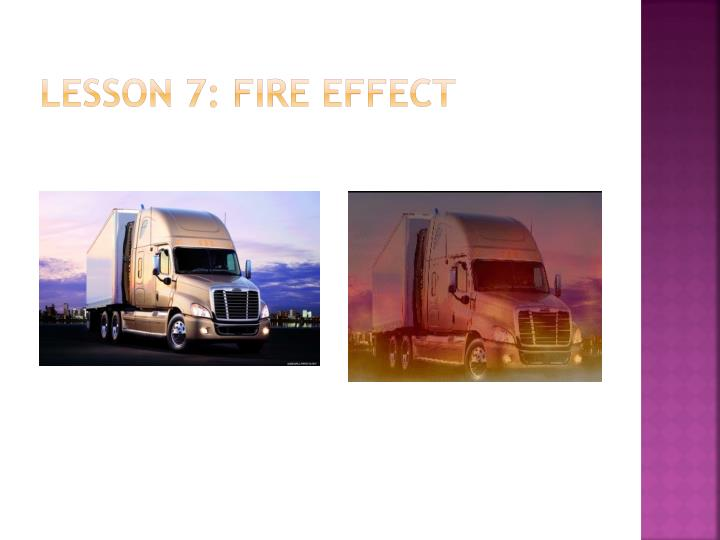 Lesson 7: Fire Effect