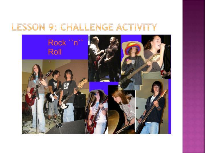 Lesson 9: Challenge activity