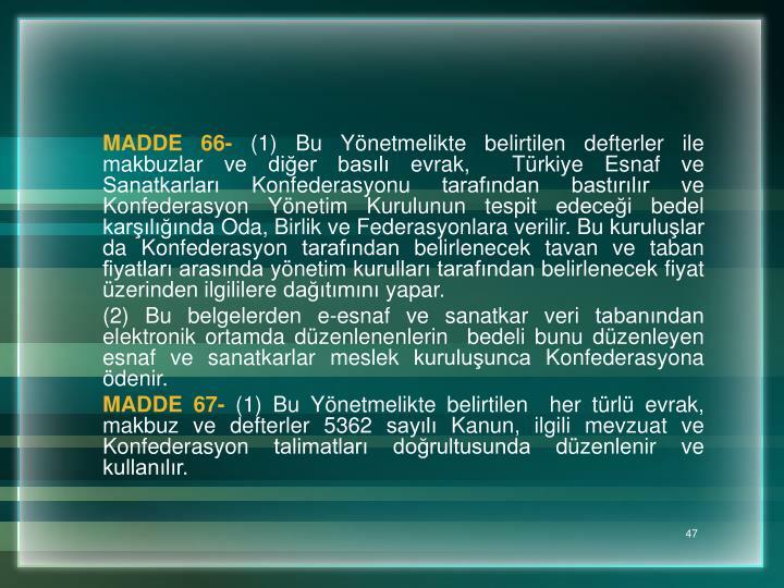 MADDE 66-