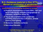 b 2 guidance material in doc 9774 manual on certification of aerodromes7