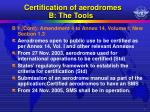 certification of aerodromes b the tools1