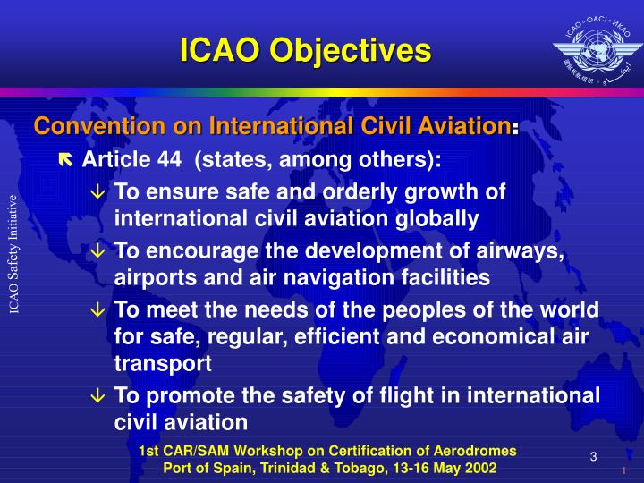 Icao objectives