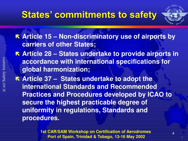 States' commitments to safety