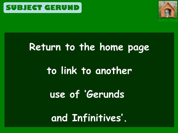 SUBJECT GERUND