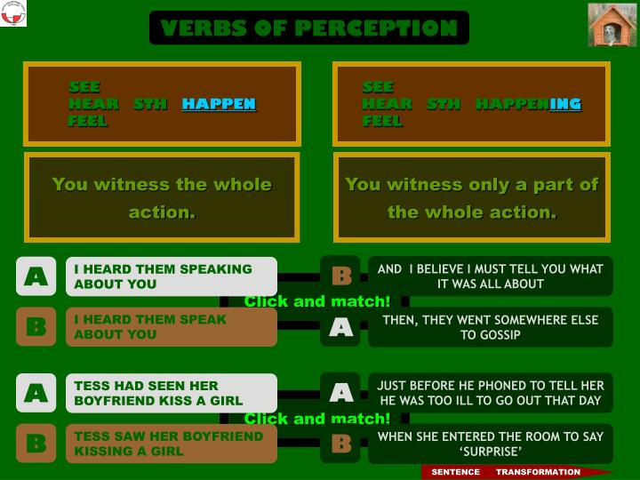 VERBS OF PERCEPTION