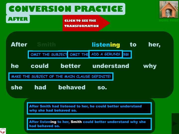 CONVERSION PRACTICE