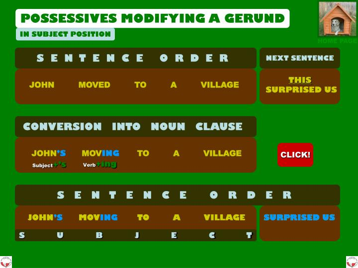 POSSESSIVES MOD