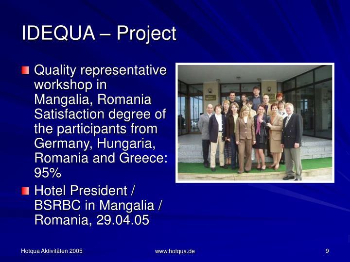 IDEQUA – Project