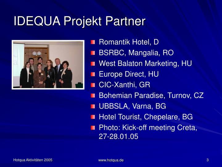 IDEQUA Projekt Partner