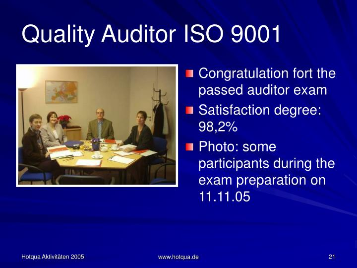 Quality Auditor ISO 9001