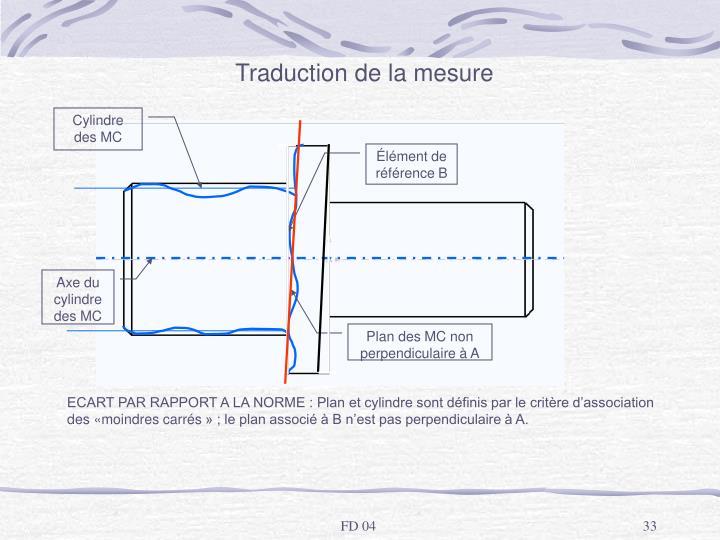 Traduction de la mesure