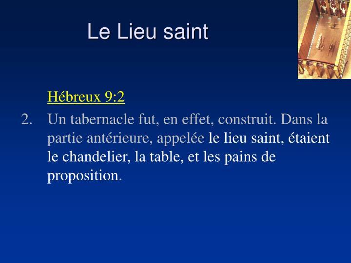 Le Lieu saint