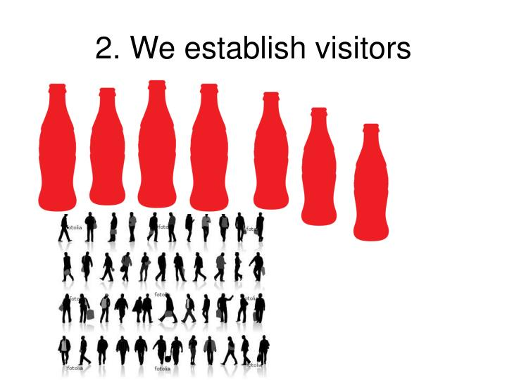 2. We establish visitors