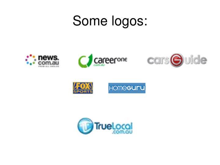 Some logos: