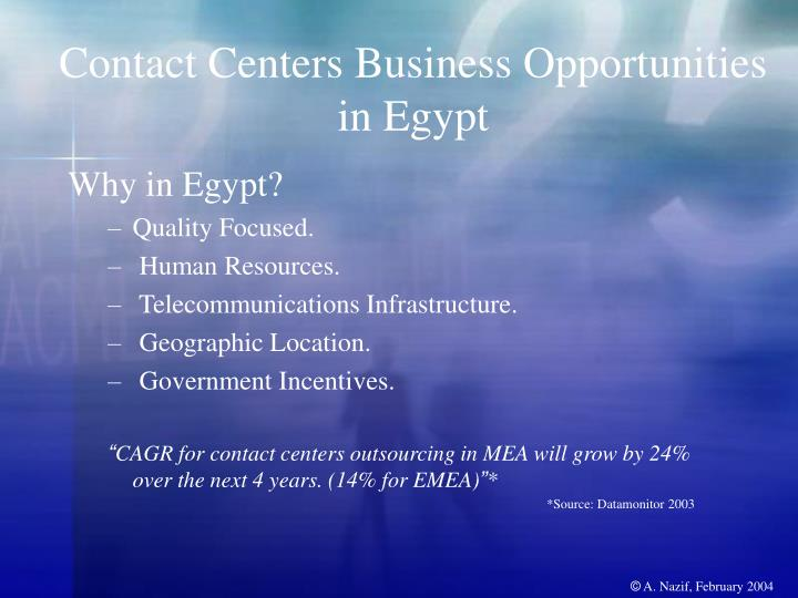 Contact Centers Business Opportunities