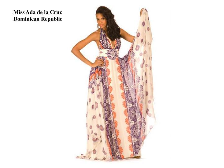 Miss Ada de la Cruz