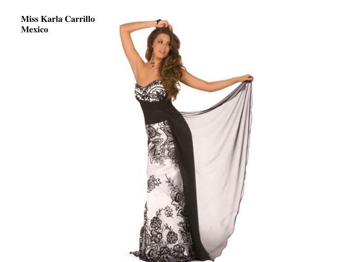 Miss Karla Carrillo