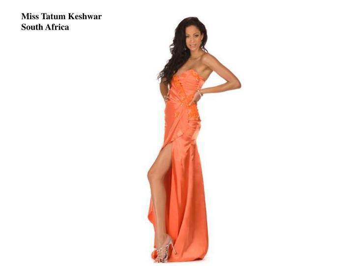 Miss Tatum Keshwar
