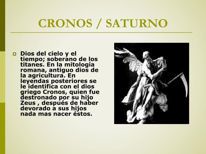 CRONOS / SATURNO