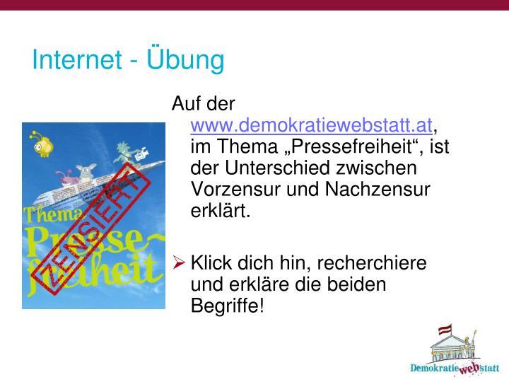 Internet - Übung