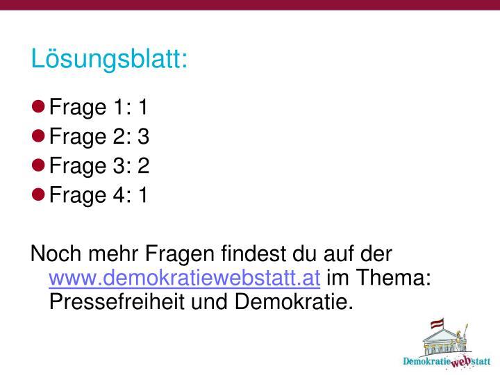 Lösungsblatt:
