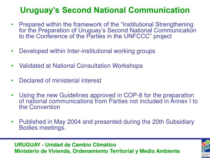 Uruguay's Second National Communication