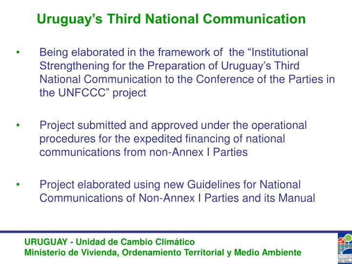 Uruguay's Third National Communication