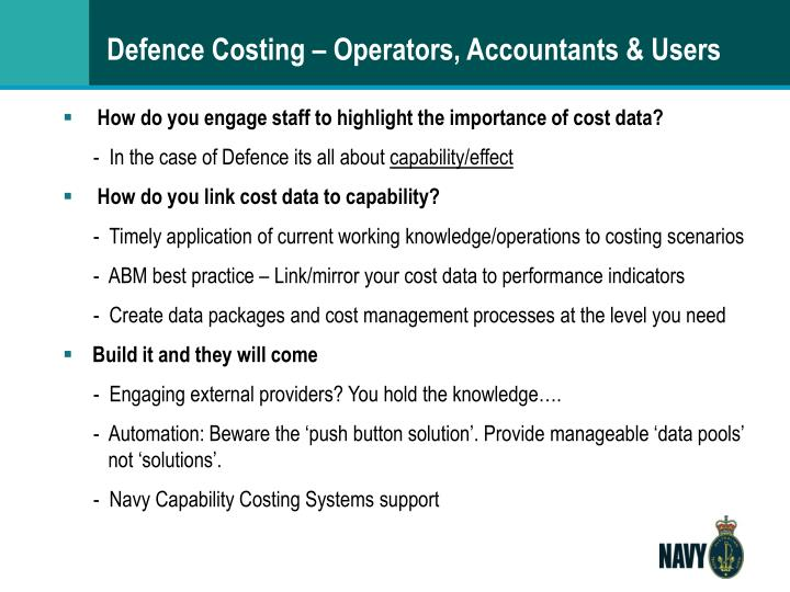 Defence Costing