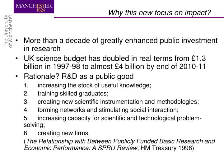 More than a decade of greatly enhanced public investment in research