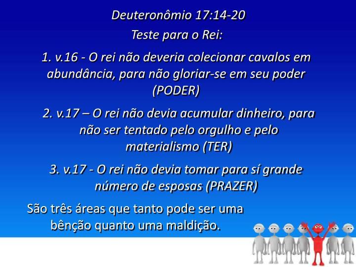 Deuteronômio 17:14-20