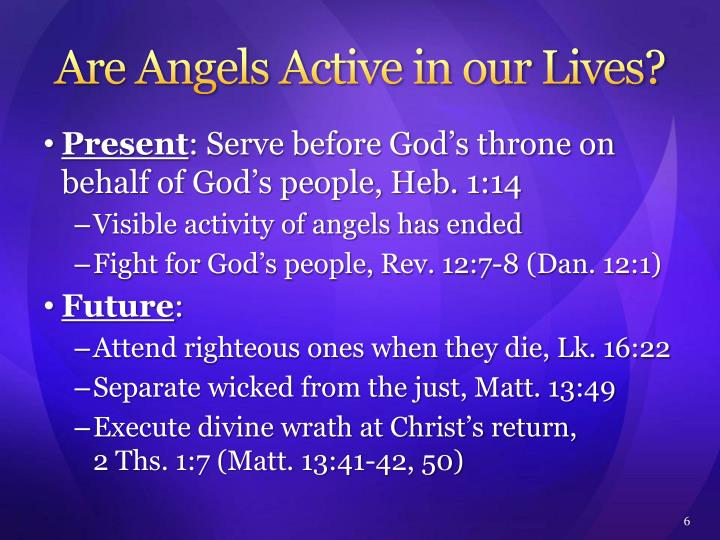 Are Angels Active in our Lives?