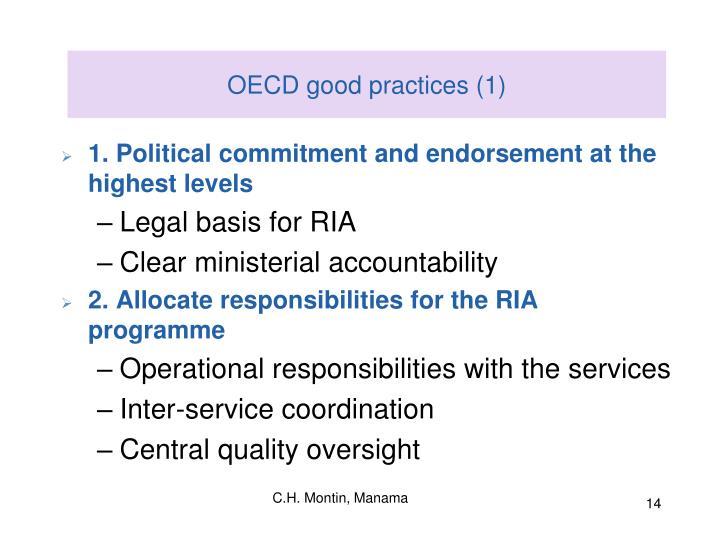 OECD good practices (1)