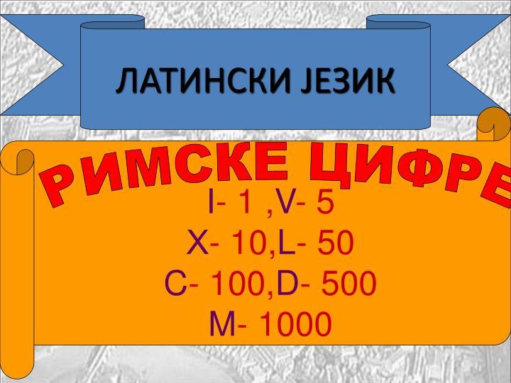 ЛАТИНСКИ ЈЕЗИК