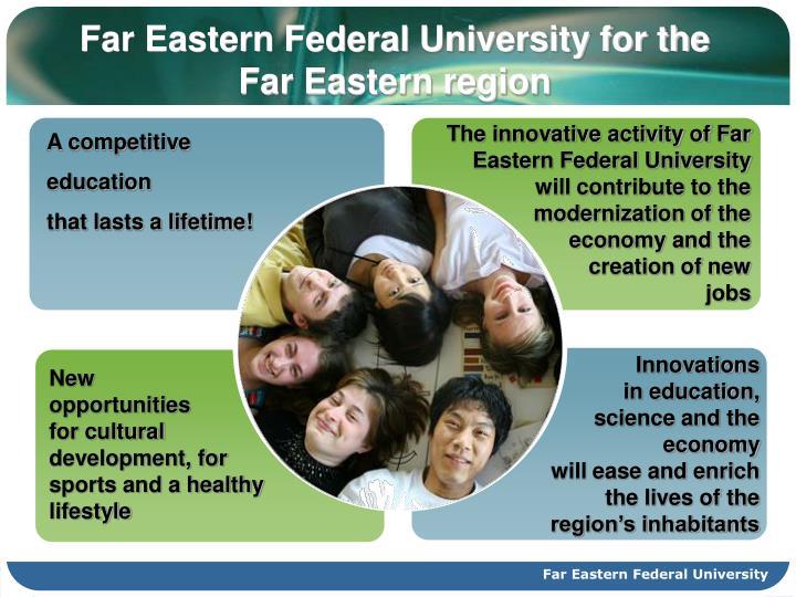 Far Eastern Federal University for the Far Eastern region