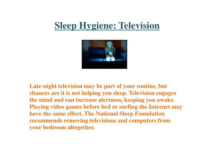 Sleep Hygiene: Television