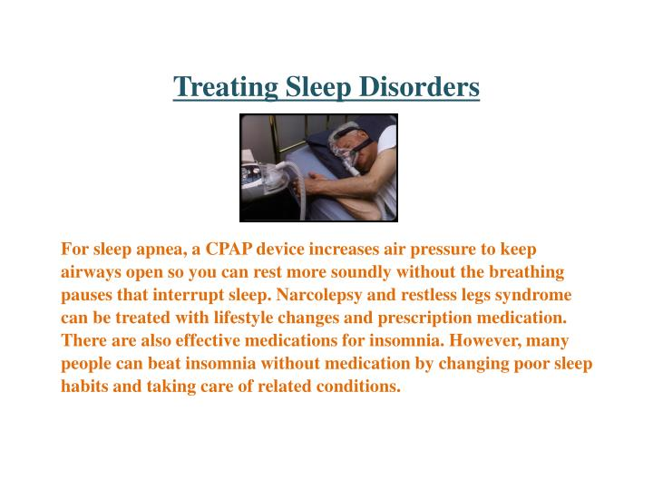 Treating Sleep Disorders