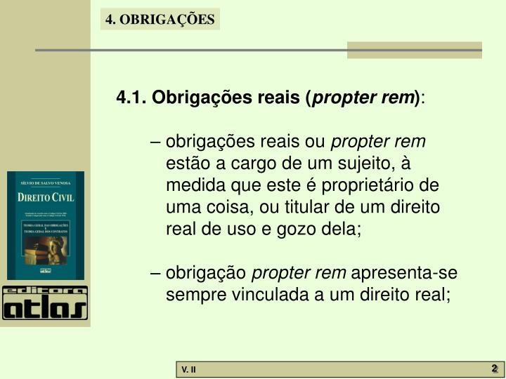 4.1. Obrigações reais (