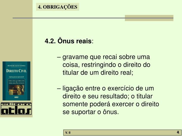 4.2. Ônus reais