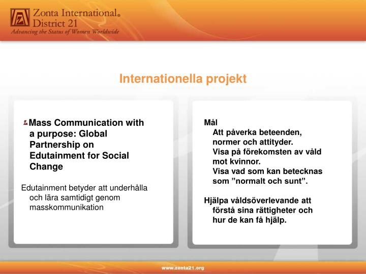 Internationella projekt