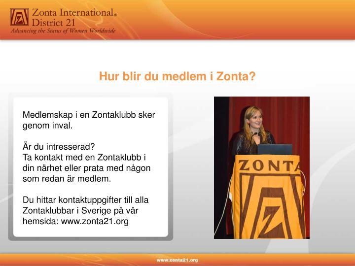 Hur blir du medlem i Zonta?