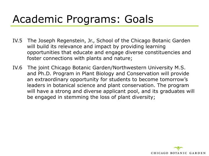 Academic Programs: Goals