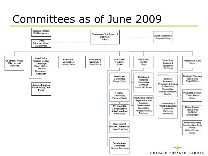 Committees as of June 2009