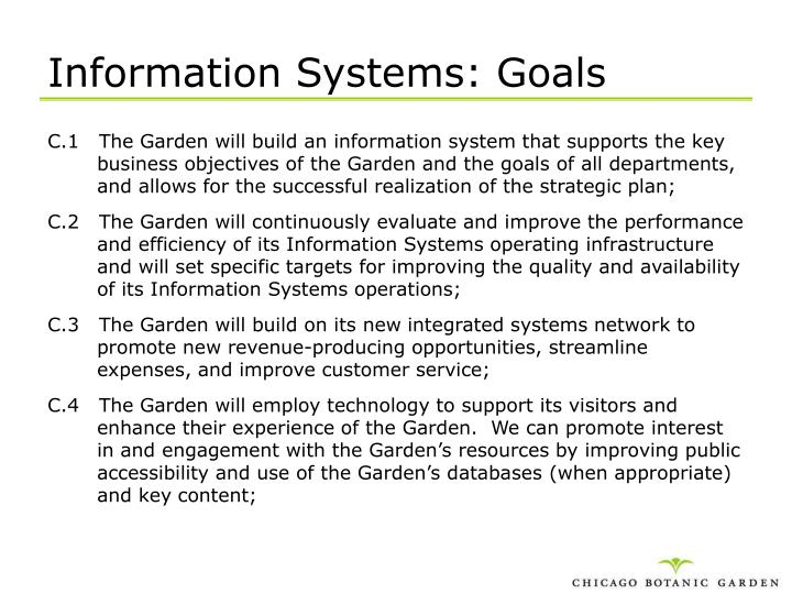 Information Systems: Goals