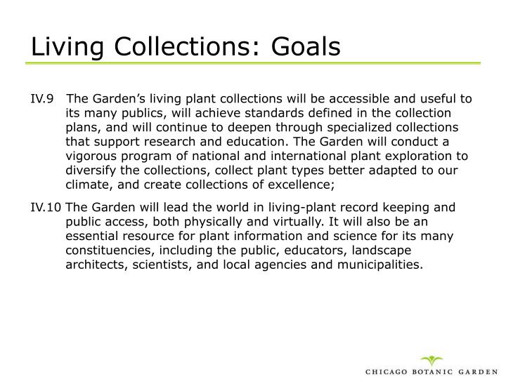 Living Collections: Goals