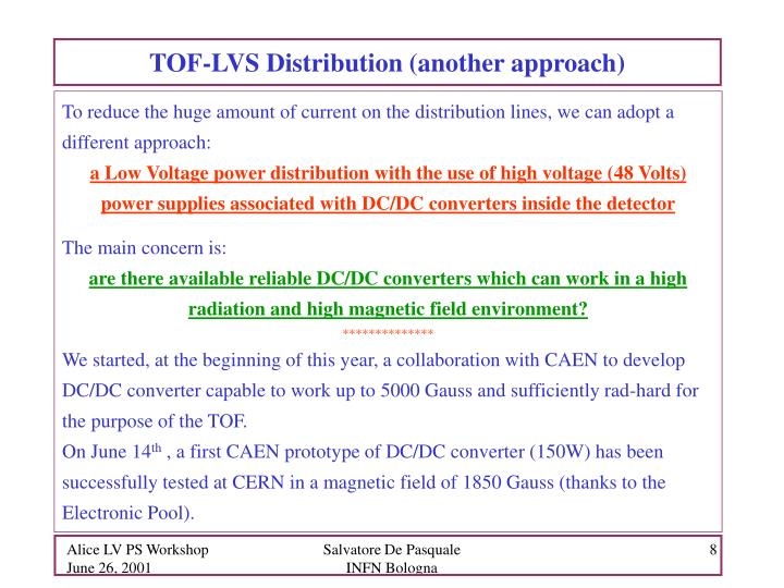 TOF-LVS Distribution (another approach)