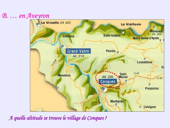 B. … en Aveyron