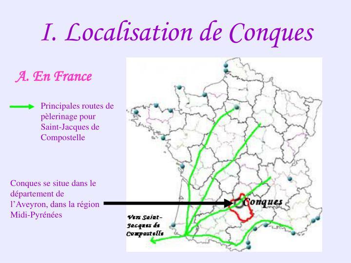 I. Localisation de Conques