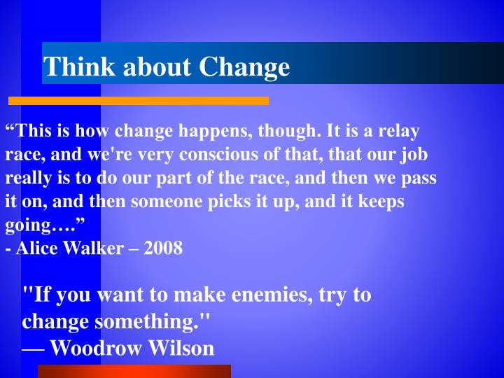 Think about Change