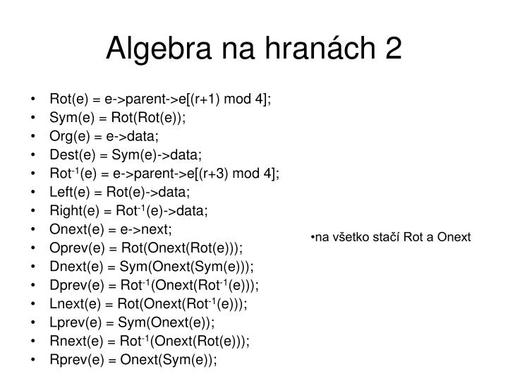 Algebra na hranách 2