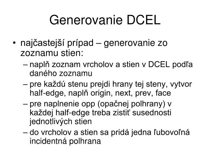 Generovanie DCEL